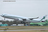 Air X Charter Airbus A340 at London Stansted Airport Takeoff