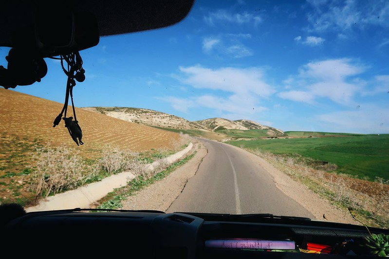 Driving to Fes, Morocco in our Sprinter Van.