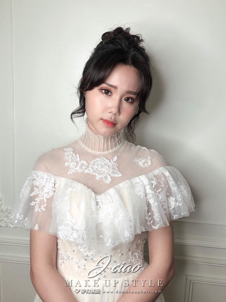 【新秘婕喬】新娘造型創作 / 氣質高盤髮造型