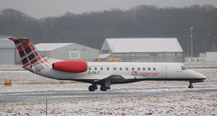 Photo of Embraer ERJ-135ER: G-SAJT Loganair Newcastle Airport