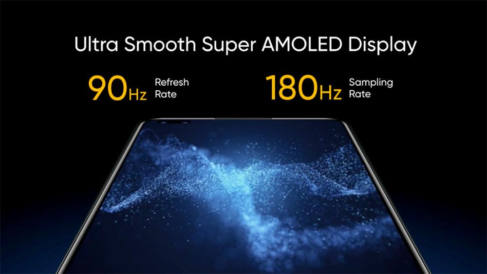 realme-X50-Pro-5G搭載90Hz-Super-AMOLED暢速螢幕。