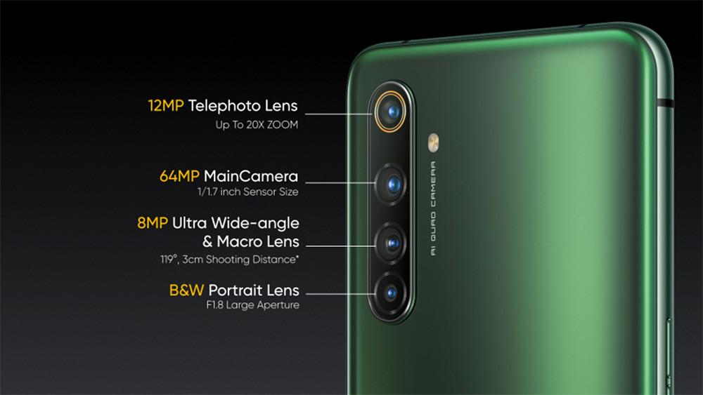 realme-X50-Pro-5G搭載鷹眼變焦四鏡頭。