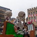 Brexit is the topic of one of the satirical floats at the Cologne Carnival 2020, symbolized by politicians turned into skeletons and surrounded by spiderwebs