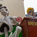 The slowness of the Brexit process is the focus of a satirical wagon of the Cologne Carnival Rose Monday Parade, with Boris Johnson turning into a skeleton while addressing MPs (also skeletons) at the House of Commons