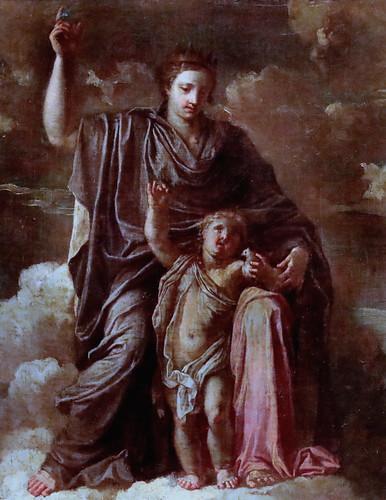IMG_3247DA Noël Coypel 1628-1707 Paris La Bretagne protégeant l'Innocence  Brittany protecting Innocence  vers 1660 Rennes Musée des Beaux Arts