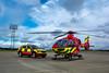 Thames Valley Air Ambulance   Skoda Kodiaq + Airbus H135   OY69 OKF + G-TVAL   Critical Care Response Car + Air Ambulance