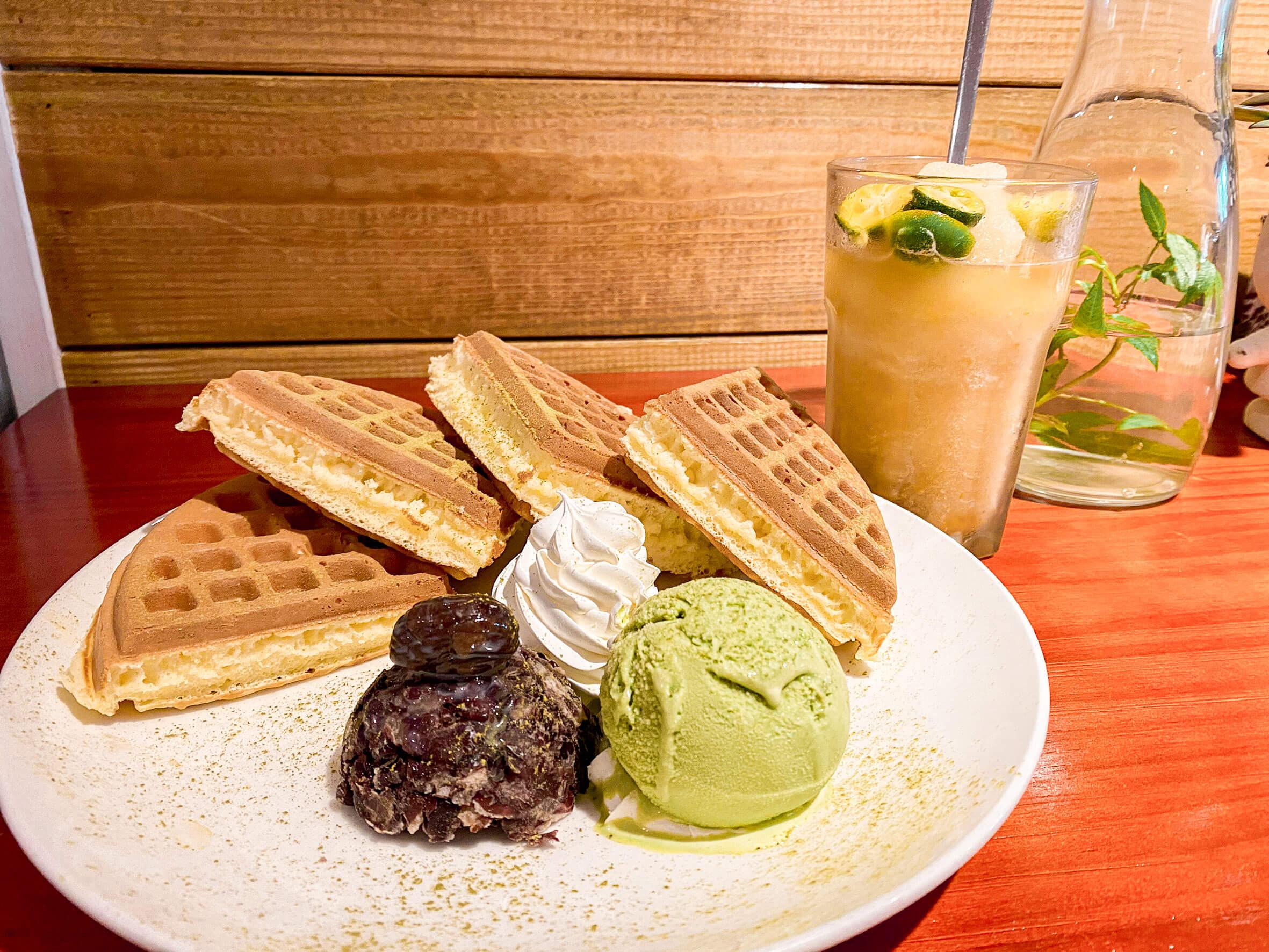 桃園景觀餐廳|丸山咖啡/ 復興區景觀餐廳 / 宇治抹茶紅豆鬆餅