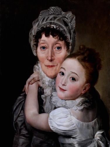 IMG_4019D Louis Marie Sicardi. 1743-1825 Portrait d'une femme âgée avec une petite fille.  Portrait of an elderly woman with a little girl.  1814 Avignon Musée Calvet.