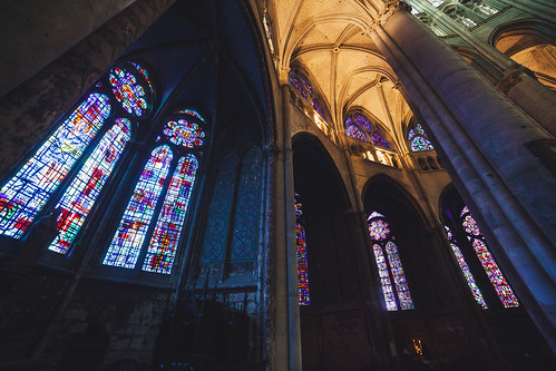 Stained Glasses, Cathedral of Saint Peter of Beauvais Interior