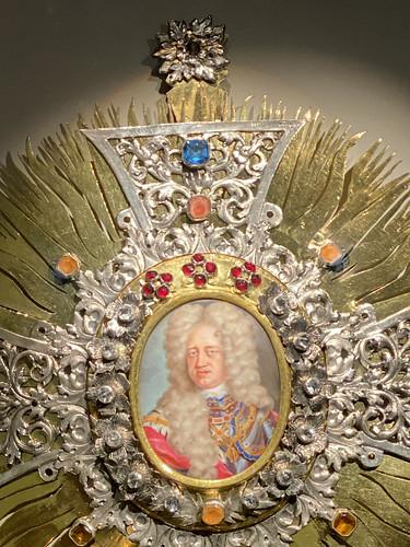 Portrait Miniature of Johann Wilhelm In a Cross-Shaped Frame (1708/1711)