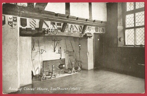Anne of Cleeve's House, Southover, Sussex. The  hall fireplace.