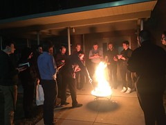 "Seminarians burn palms to prepare for Ash Wednesday 2020. ""Out of the depths I cry to You – Lord, hear my voice!"""