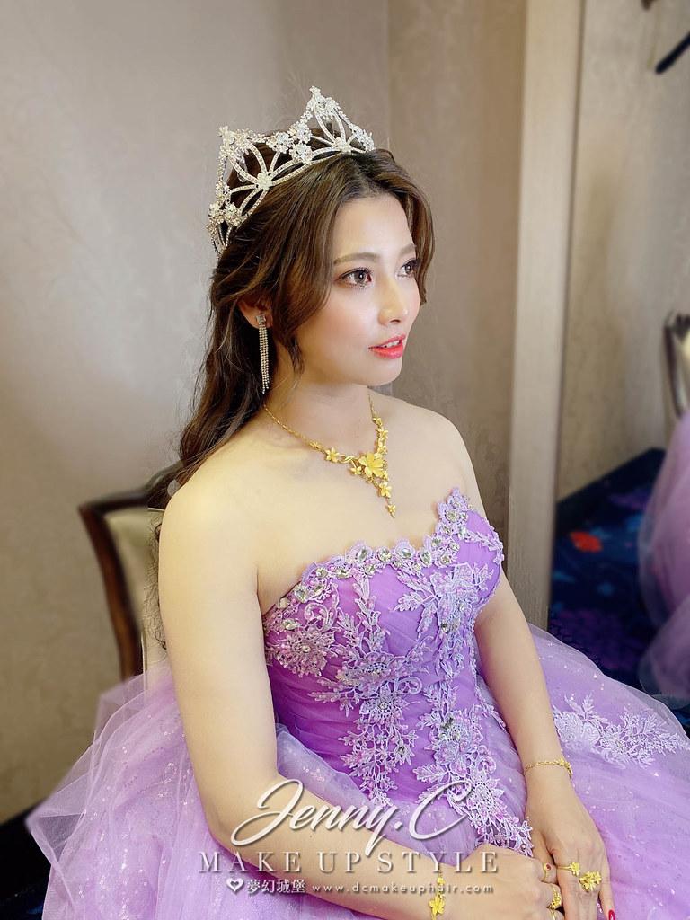 【新秘蓁妮】bride 訂爵宇 結婚造型 / 公主女神風