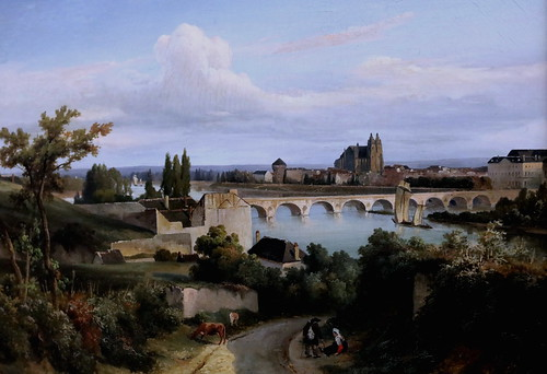 IMG_4721 Prosper Barbot. 1796-1878. Paris Le pont de Tours  The bridge of Tours Nantes Musée d'Arts. Peintre très influencé par Corot (dans sa première manière) . Painter very influenced by Corot (in his first way).