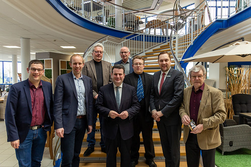 Besuch bei dekoVries GmbH in Augustfehn II mit Bundesminister Hubertus Heil.