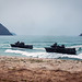 U.S. Marines drive an assault amphibious vehicles onto the beach during an amphibious assault rehearsal for Cobra Gold 2020