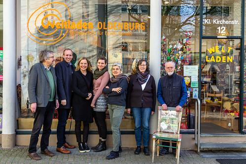 Ortstermin im Weltladen Oldenburg mit Sonja Steffen MdB.