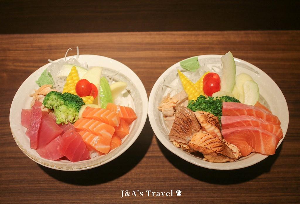 靜壽司 一碗鮭魚丼有4種風味,生魚.炙燒雙重口感一次滿足!【捷運公館美食】台大美食 @J&A的旅行