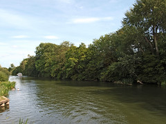 Photo of The confluence of the Rivers Thames and Thame, or Tamesis  and Isis. Oxfordshire