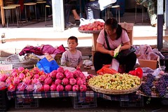 At the market in Taipingzhen, Kunming, Anning, Yunnan, China