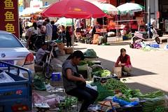At the market in Taipingzhen, Kunming, Anning, Yunnan, China