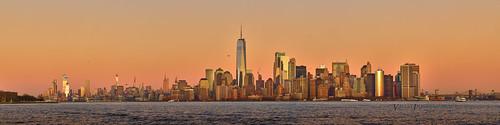 NYC skyline from Liberty Island