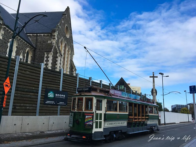 基督城電車穿梭在市中心