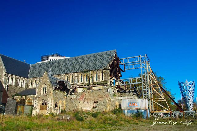 被地震摧毀的基督城大教堂