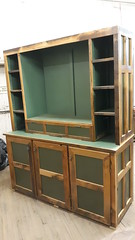 Painted/barnwood custom tv cabinet feb 2020