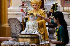 Water ritual at Shwedagon Pagoda