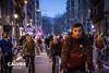 Molta gent en la baixada  - Protesta pel nou projecte de Via Laietana