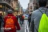 La pol�cia ens escorta - Protesta pel nou projecte de Via Laietana