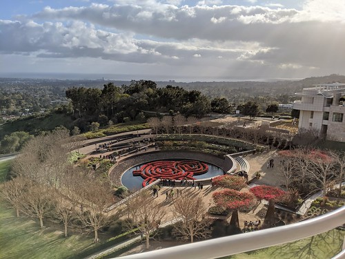 Above the Central Garden of The Getty Center. Not for sale.
