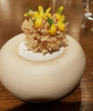 Smoked eel with gorse flowers