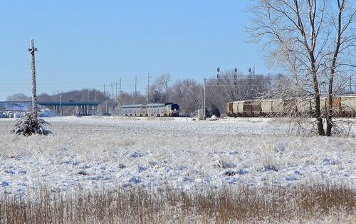 Amtrak 22 approaching Hazel Dell