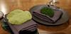 Edible moss and cracker