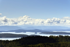 View from the summit of Mount Norman on South Pender Island in British Columbia