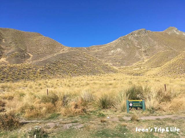 林迪斯隘口路標 Lindis Pass