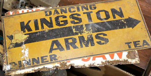 Kingston Arms metal sign ($67.20)