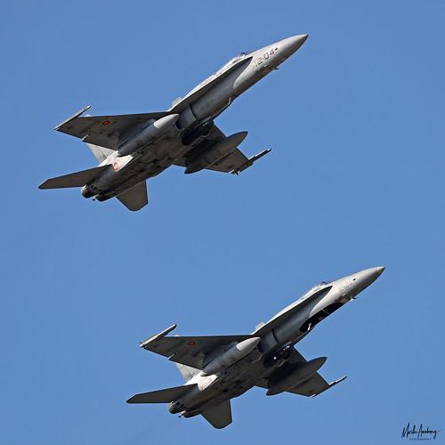 Ejército del Aire McDonnell Douglas EF-18M Hornets C.15-46/12-04 & C.15-68/12-26, Ala 12, TLP 2020-1, Albacete AFB/LEAB