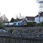 nuclear waste train on Edinburgh Suburban and Southside
