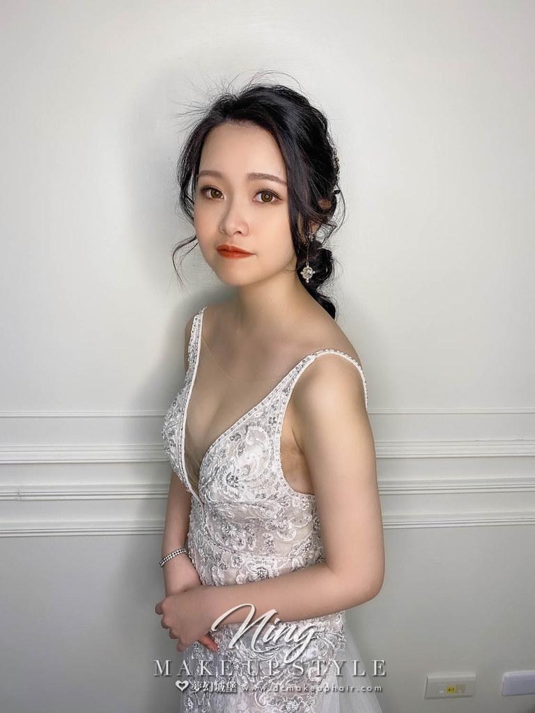 【新秘羽寧】新娘造型創作 / 浪漫低馬尾