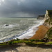 Stormy weather over the coastal path from Durdle Door