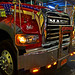 Beautiful Mack Truck at Night 50th St 6th - 7th Ave Midtown Manhattan New York City NY P00458 DSC_1786