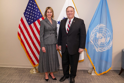 Secretary Pompeo Meets with Ambassador Kelly Craft