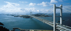 Seto-Great-Bridge-Inland-Sea-Kojima-Honshu