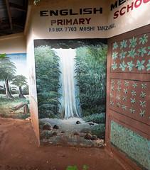 Marangu Falls mural at English Primary School, Moshi, Tanzania