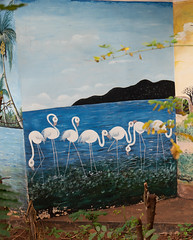White Flamingos Mural, Kimochi Secondary School, Moshi, Tanzania