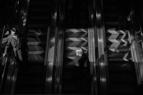 On the escalator
