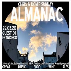 diary #2559: Sunday Almanac, March 29th, 2020